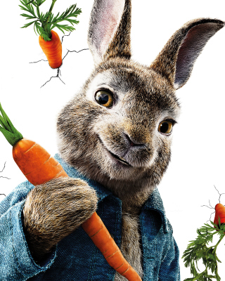 Картинка Peter Rabbit 2018 на телефон iPhone 5S