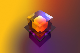 Обои Colorful Cube на Widescreen Desktop PC 1680x1050
