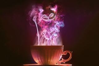 Обои Cheshire Cat Mystical Smoke на LG G5