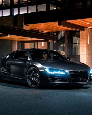 Обои Audi R8 Black Body Kit для iPhone 5S