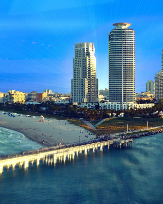 Обои Miami Beach with Hotels на телефон 240x320