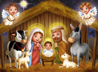 Обои Baby Christ Is Born на телефон