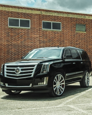Картинка Cadillac Escalade Black для iPhone 5S