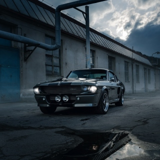 Обои Ford Mustang GT500 Eleanor 1967 для телефона и на рабочий стол iPad