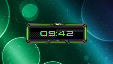 Space Clock Green