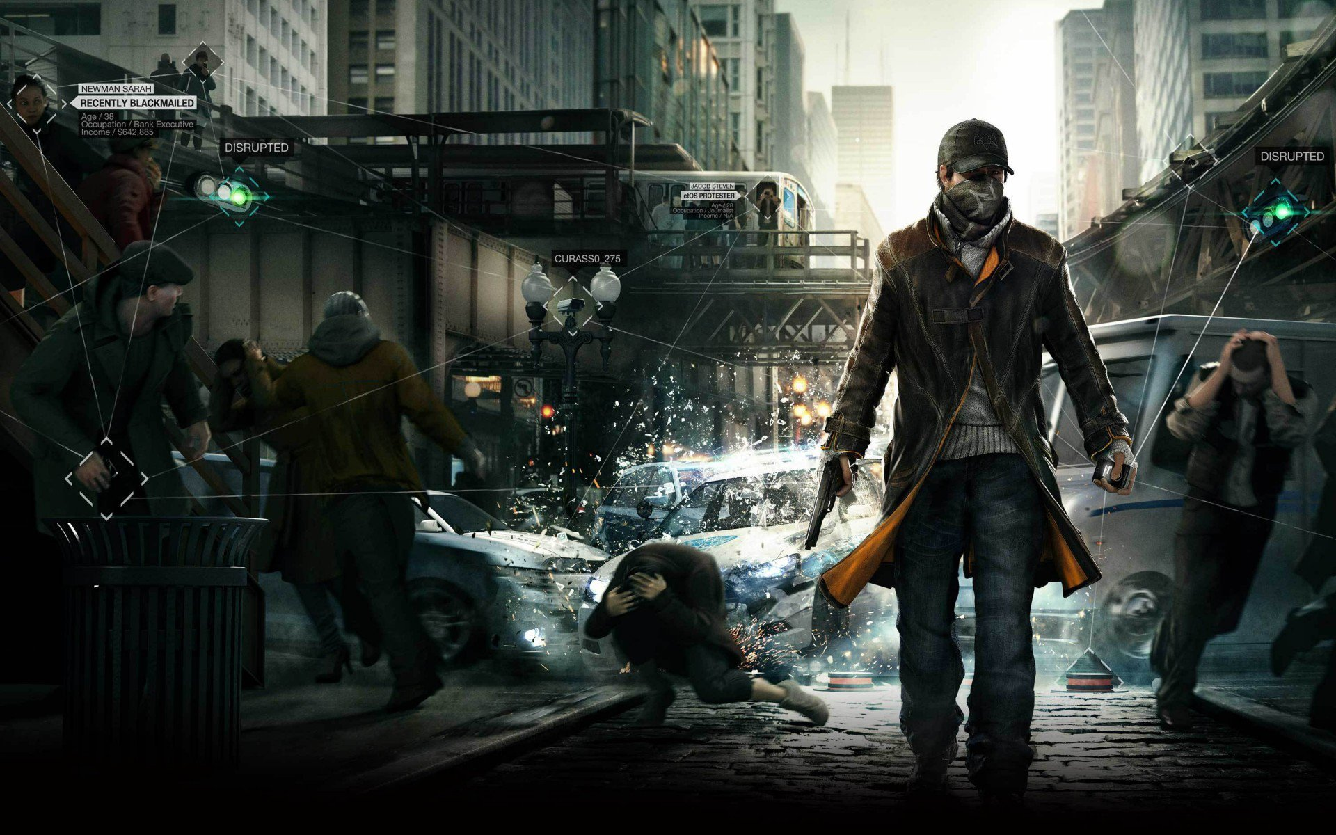 Chicago, пистолет, Сторожевые псы, watch dogs, Ubisoft Montreal, Aiden Pearce