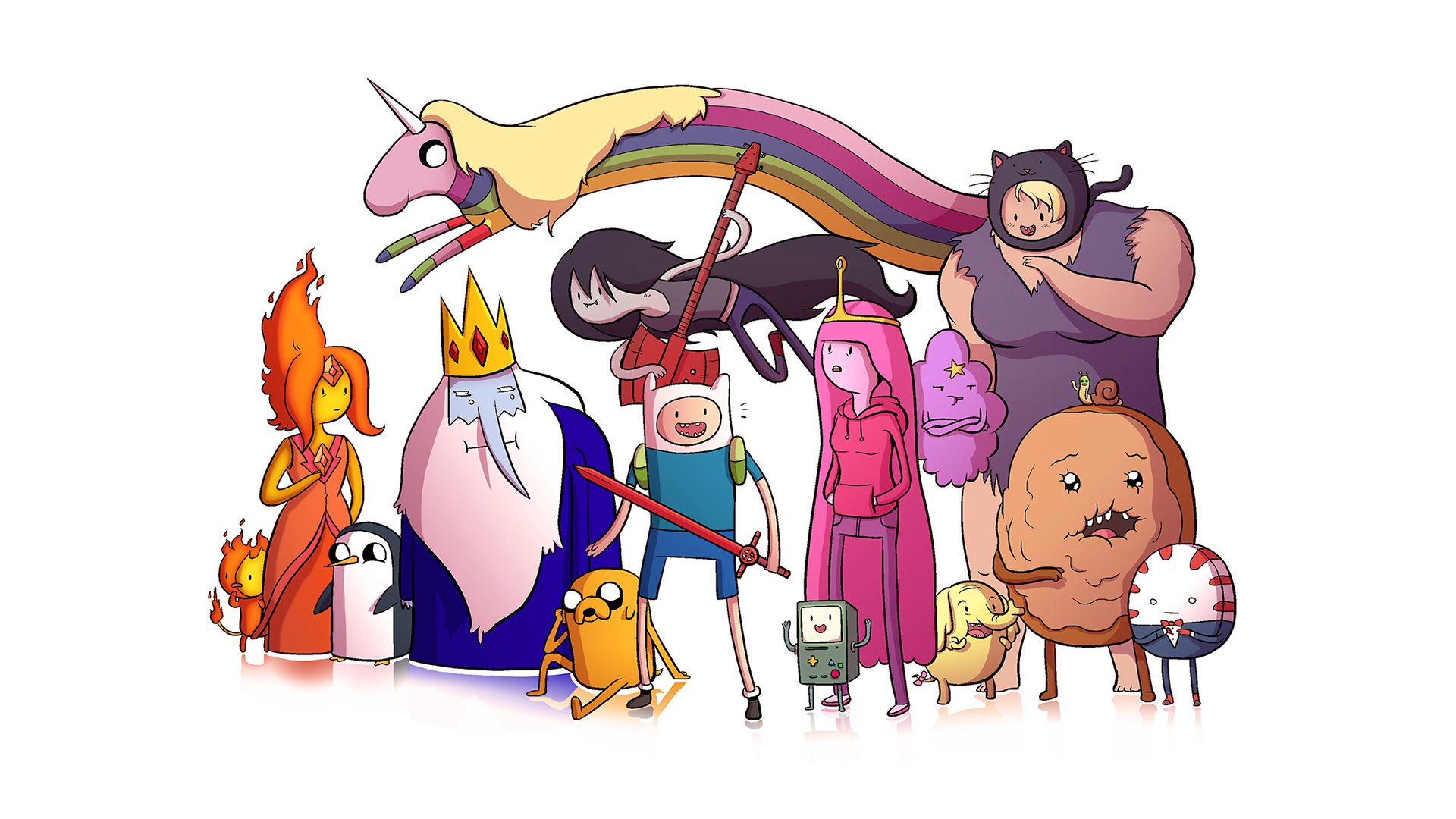 susan strong, tree trunks, gunter, flame princess, the ice king