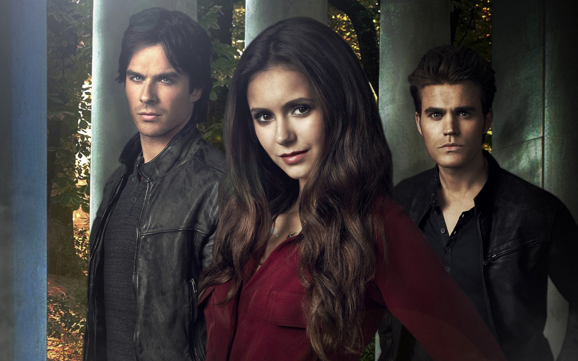 Пол Уэсли, Nina Dobrev, The Vampire Diaries, Paul Wesley, Damon Salvatore