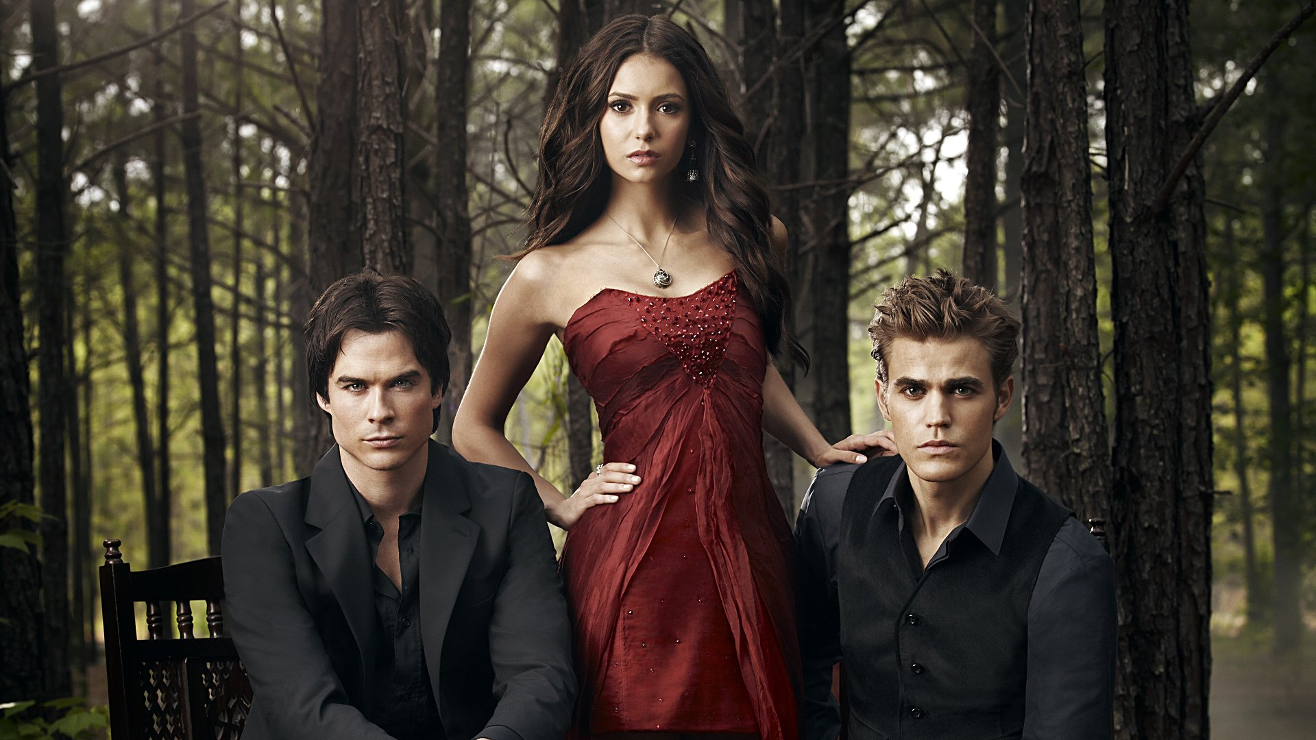 сериал, nina dobrev, the vampire diaries, пол уэсли