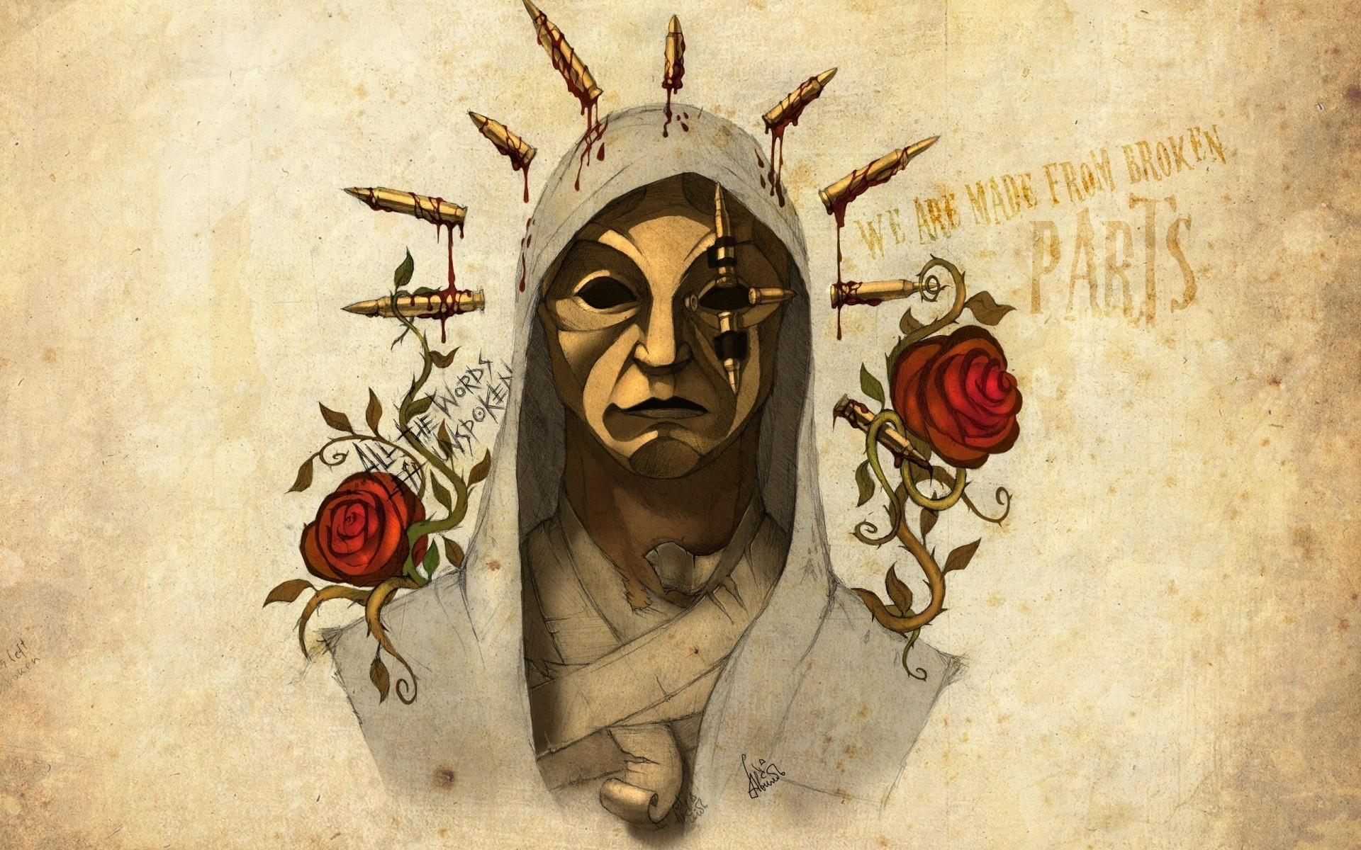 notes from the underground, danny, artwork, hollywood undead