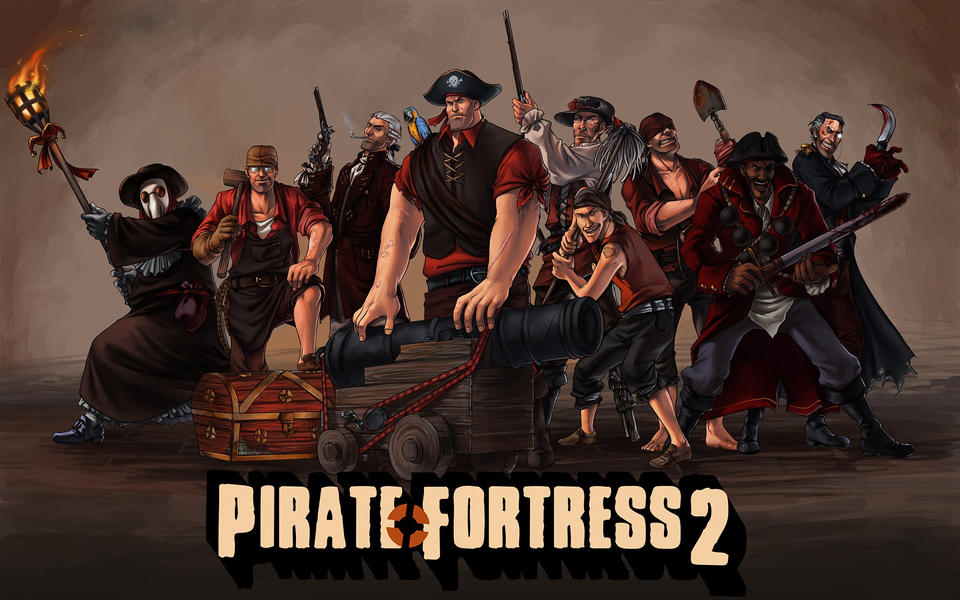 tf2, team fortress 2, pirate fortress, valve