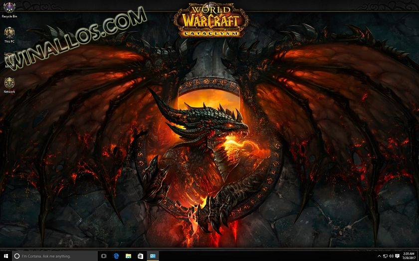 Тема World of Warcraft