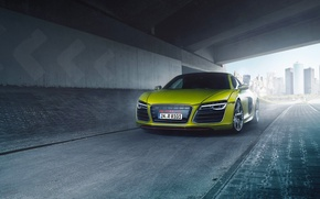 Обои Quattro, V10, Yellow, Front‬, Folienwerk, Bodensee, Supercar, Plus, Audi