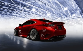 Обои tuning, red, Rocket Bunny, car, Lexus RC-F