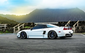 Обои car, white, honda, tuning, nsx