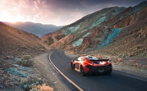 Обои McLaren, Extra, Hypercar, Terrestrial, Valley, Orange, Volcano, Death, Exotic, Rear, Supercar, Sand