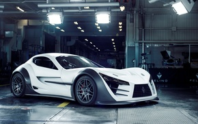 Обои supercar, felino cb7, white