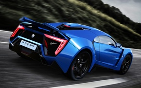 Обои Lykan Hypersport, W Motors, supercar, суперкар, blue, car, race, UHD