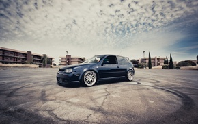 Обои Volkswagen golf, cars, auto, wallpapers auto, Golf, Volkswagen, Gti