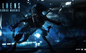 Обои матка, Aliens Colonial Marines, монстр, queen, чужой