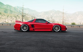 Обои car, red, honda, nsx, 1013mm