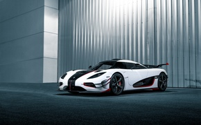 Обои Koenigsegg, One, white