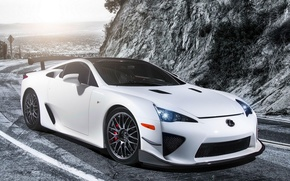 Обои Lexus LFA, Car, ЛФА, Лексус, Nürburgring, Performance, Wallpapers, Тюнинг, White, Обоя, Белый, Tuning, Автомобиль