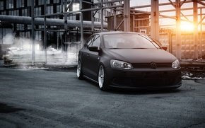 Обои polo, volkswagen, airlift, полоседан, polosedan, stance, bagged