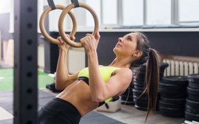 Обои athletic body, gym, crossfit