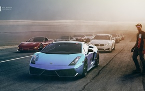 Обои Lamborghini, Cars, Race, Alex Murtaza, Nissan, Exotic, Chevrolet, BMW, Ford