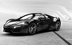 Обои Black, HyperSport, W-Motors, Lykan, павильон