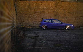 Обои профиль, Purple, Honda Civic, цивик, stance. хонда