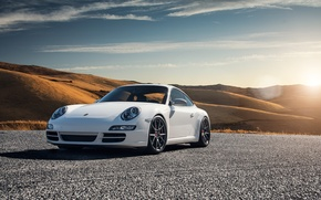 Обои Carrera S, Porsche 997, car, white