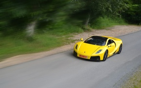 Обои supercar, Spania, скорость, yellow, GTA Spano