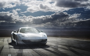 Обои Day, McLaren, Alex Murtaza, Clouds, MP4-12C, Supercar, Silver
