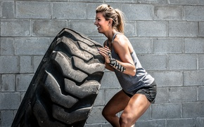 Обои crossfit, workout, tire