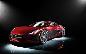 Обои Concept, One, Rimac, Red