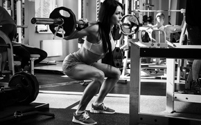 Обои woman, gym, crossfit, legs, weight lifting