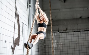 Обои crossfit, rope, intensive training