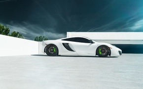 Обои supercar, McLaren, 12C MP4, white