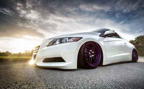 Обои car, tuning, stance, honda cr-z