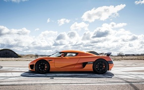 Обои кёнигсег, supercar, Koenigsegg CCXR, orange