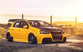 Обои mk5, Golf, Volkswagen, Hugo Silva, yellow