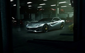 Обои supercar, ferrari, garage, f12, f12berlinetta