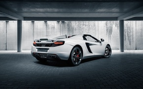 Обои McLaren, Back, White, MP4-12C, British, Supercar