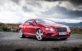 Обои красный, Bentley, 2015, Speed, Continental, бентли, континенталь