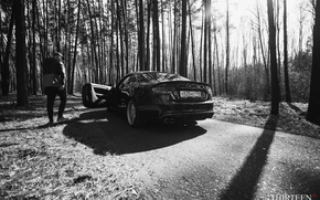 Обои парень, photography, Thirteen, photographer, Марк Литовкин, Ауди, A5 Coupe, машина, авто, фотограф, auto, Audi, лес