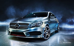 Обои Mercedes-Benz, A-class, 2012, w176, мерседес
