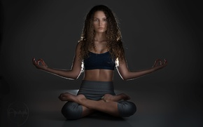 Обои dark, yoga, light