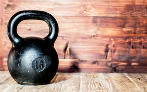 Обои gym, metal, wall, kettlebell, crossfit